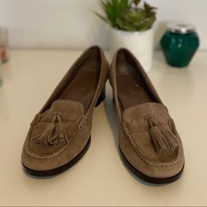 Ralph Lauren suede, raddled loafers